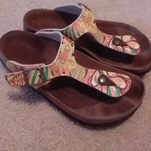 Patterned Birkenstocks size 39